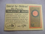 1959 Ad Hit Parade Transistor Radio by Bell Products, St. Louis, Mo.
