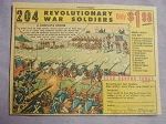 1963 Ad 204 Revolutionary War Toy Soldiers