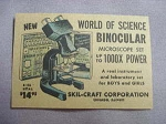 1959 Ad World of Science Binocular Microscope Set by Skil-Craft Corporation