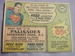 1962 Ad Palisades Amusement Park, N. J. Featuring Superman