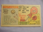 1963 Ad Tootsie Roll Pop Shoot A Basket!