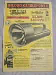 1968 Ad Skin Divers Underwater Beam Lights Freeman Electric Co, Freeman, Mo.