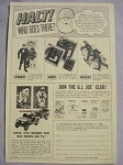 1966 Ad G. I. Joe Club Ski Patrol, Mountain Troops, U. S. Army 5 Star Jeep