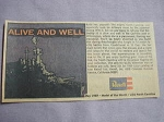 1969 Ad USS North Carolina Model Kit by Revell, Inc., Venice, California