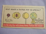1964 Ad What Makes A Tootsie Pop So Special? Chewy Tootsie Roll Inside