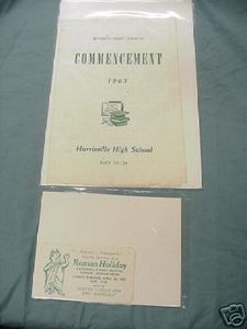 '63 Harrisville High School Harrisville WV Commencement