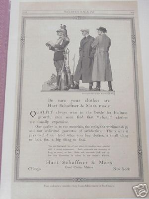 1914 Hart, Schaffner & Marx Ad Good Clothes Makers