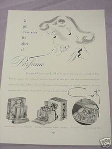 1937 Coty Perfume Ad Emeraude Le Vertige Treasure Chest