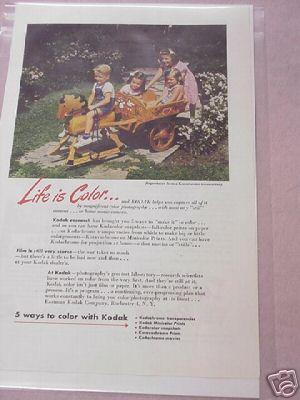 1945 Kodak Color Ad Life Is Color