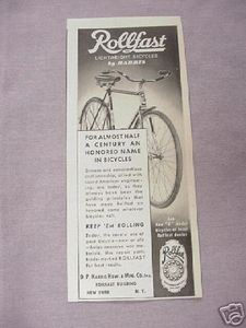 1942 Ad Rollfast Lightweight Bicycles By Harris