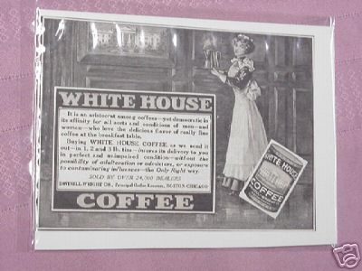 1914 Ad White House Coffee Sold By Over 24,000 Dealers