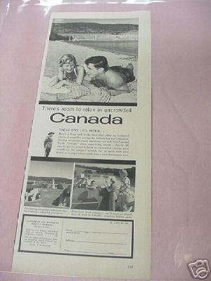 1955 Ad There's Room To Relax In Uncrowded Canada