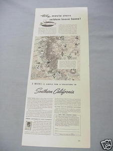 1940 Ad Travel in Southern California