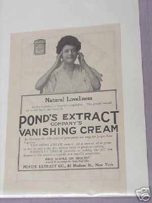 1913 Ad Pond's Extract Company Vanishing Cream