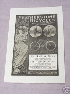 1901 Featherstone Bicycles Ad The New Century Canary
