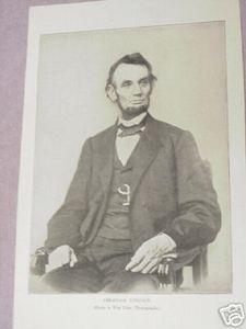 1894 Civil War Illustrated Page Abraham Lincoln