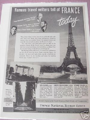 1948 French National Tourist Ad 3 Authors