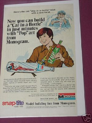 1976 Monogram Snap-Tite Car-In-A-Bottle Model Ad
