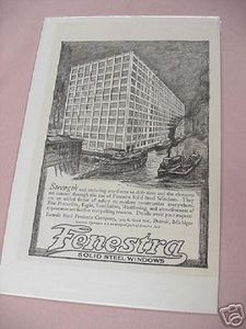 1918 Ad Fenesta Solid Steel Winndows, Detroit, Michigan