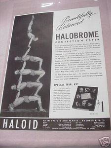 1941 Halobrome Projection Paper Photography Ad Haloid