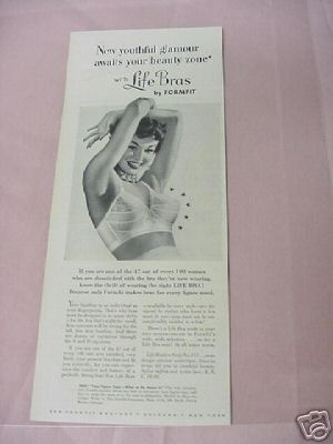 1954 Ad Life Bras by Formfit