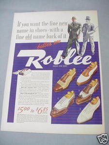 1940 Ad Roblee Shoes For Men Five Styles Featured