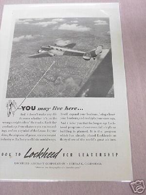 1940 Look to Lockheed for Leadership Ad
