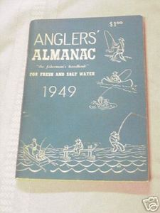 Angler's Almanac For Fresh and Salt Water 1949 Softcover Book