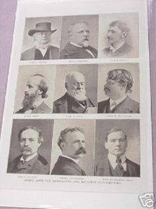 1897 Illustrated Page Noted American Journalists