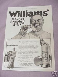 1917 Ad J. B. Williams Holder Top Shaving Stick