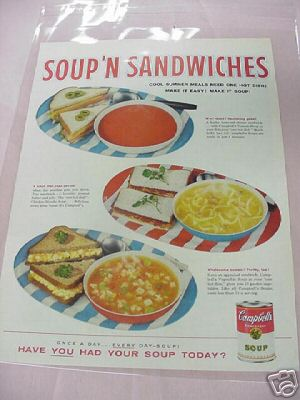 1959 Campbell's Soup 'N Sandwiches Color Ad