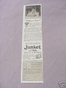 1931 Ad Junket and Milk Partners In Health