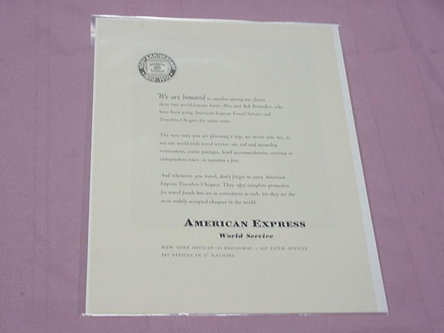 1950 Ad American Express 100th Anniversary