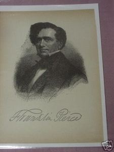 1898 Illustrated Page President Franklin Pierce