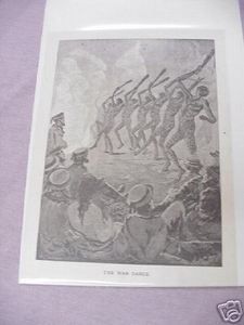 War of 1812 The War Dance 1887 Illustrated Page