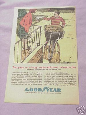 1964 Ad Goodyear Bicycle Tires