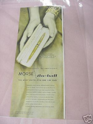 1954 Morse Flo-Ball Pen Ad