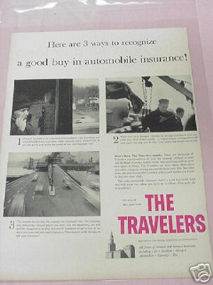 1955 The Travelers Insurance Company Ad, Hartford, Ct.