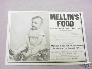 1900 Ad Mellin's Food For Infants and Invalids