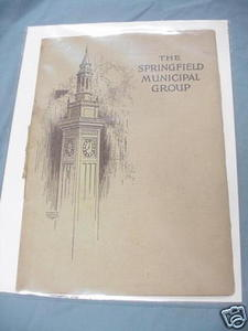 Springfield Municipal Group 1931 Massachusetts Softcover Booklet