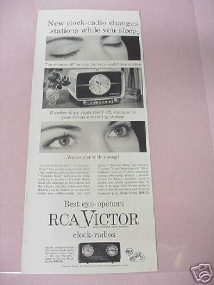 1955 RCA Victor Clock-Radios Ad 2 Styles Featured