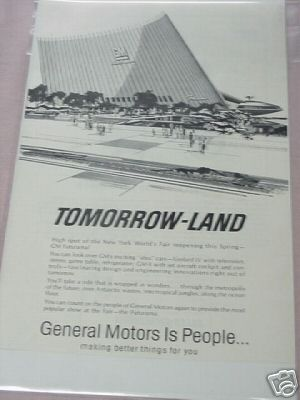 1965 GM Futurama New York World's Fair Ad