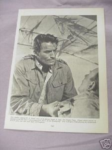 1955 Illustrated Page Gregory Peck in The Purple Plain