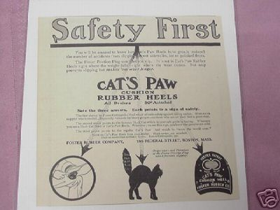 1914 Ad Cat's Paw Cushion Rubber Heels Foster Rubber Co