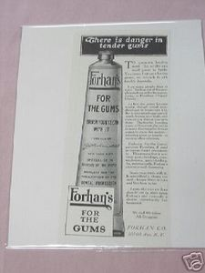 1919 Ad Forhan's For the Gums Forhan Co., N. Y.