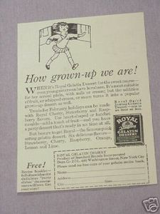 1931 Ad Royal Gelatin Dessert How Grown-Up We Are!