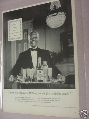 1955 Walker's DeLuxe Bourbon Whiskey Ad Hiram Walker