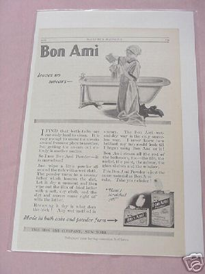 1915 Bon Ami Powder & Polishing Cleaner Ad