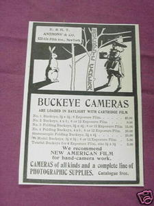 1901 Ad Buckeye Cameras, E. & H. T. Anthony & Co., NYC