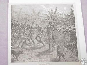 1889 Africa Illustrated Page The Funeral Dance